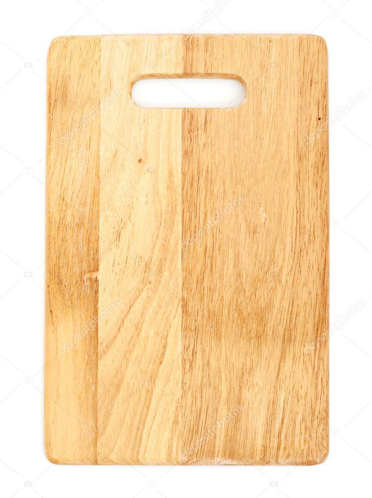 Planche d couper en bois isol sur fond blanc for Planche en bois blanc