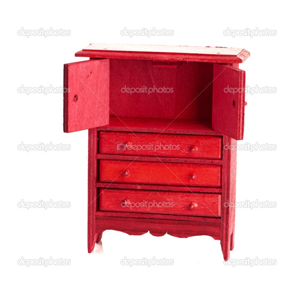 Rouge Armoire Pour Enfantsu2013 Images De Stock Libres De Droits