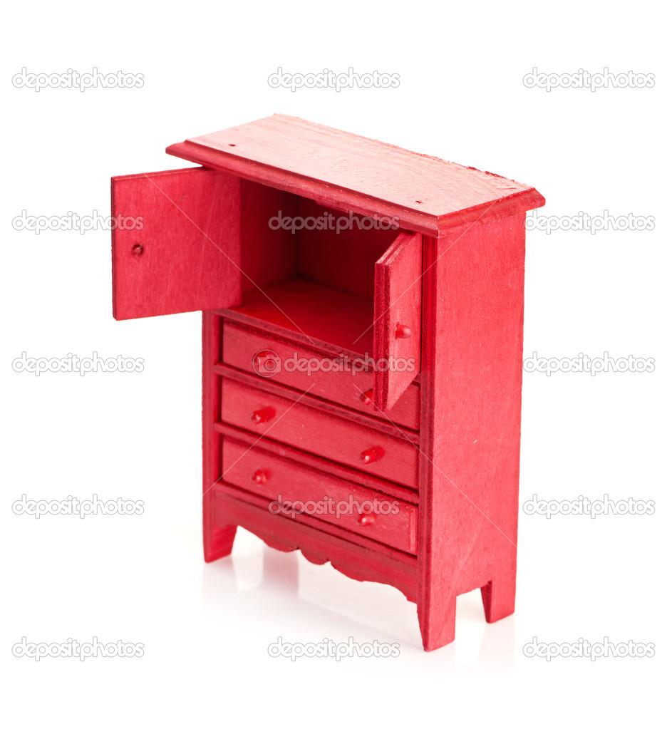 rouge armoire pour enfants — Photographie merznatalia © #26057641