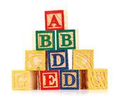 Fotografie wooden cube alphabet