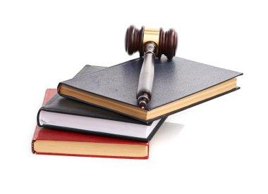 Judge's gavel on books
