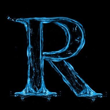 Letter r of alphabet