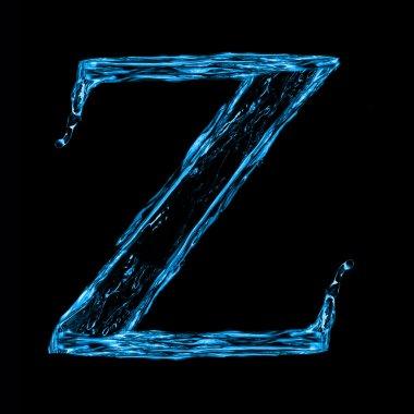 Letter z of alphabet