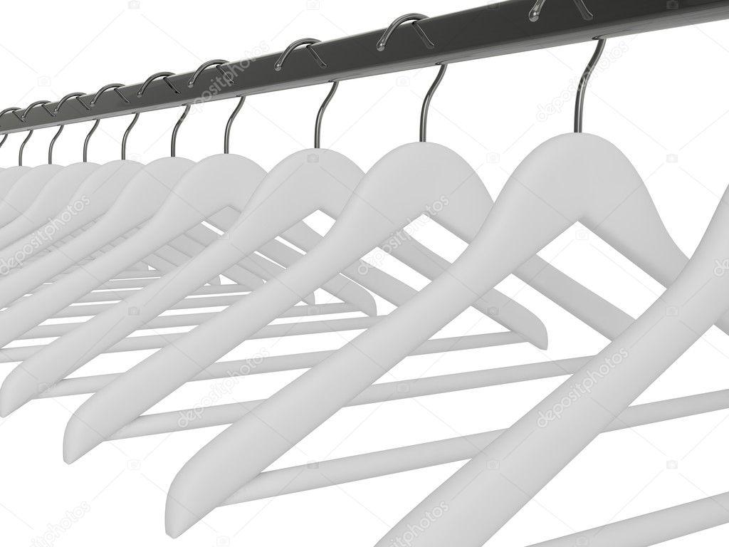 weiße Kleiderbügel isoliert — Stockfoto © merznatalia #47711477