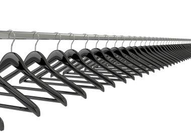 Black clothes hangers