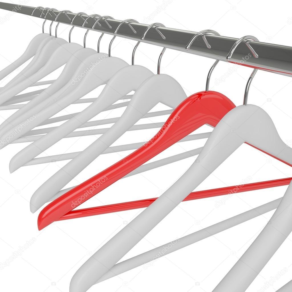 weiße und rote Kleiderbügel — Stockfoto © merznatalia #50290465