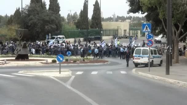demonstrace v Jeruzalémě