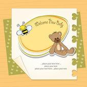 carta di Cartoon baby doccia con orsacchiotto