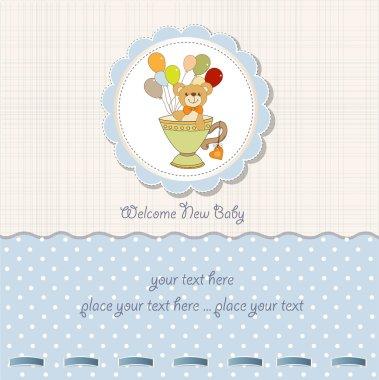 Card with cute teddy bear