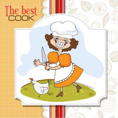 Cook who runs a chicken