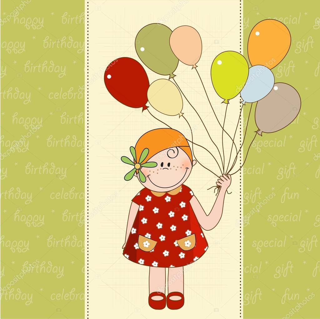 Открытка ребенок на шарике, картинки прикольные