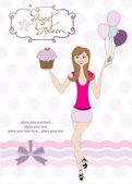sladký šestnáct k narozeninám s mladou holkou