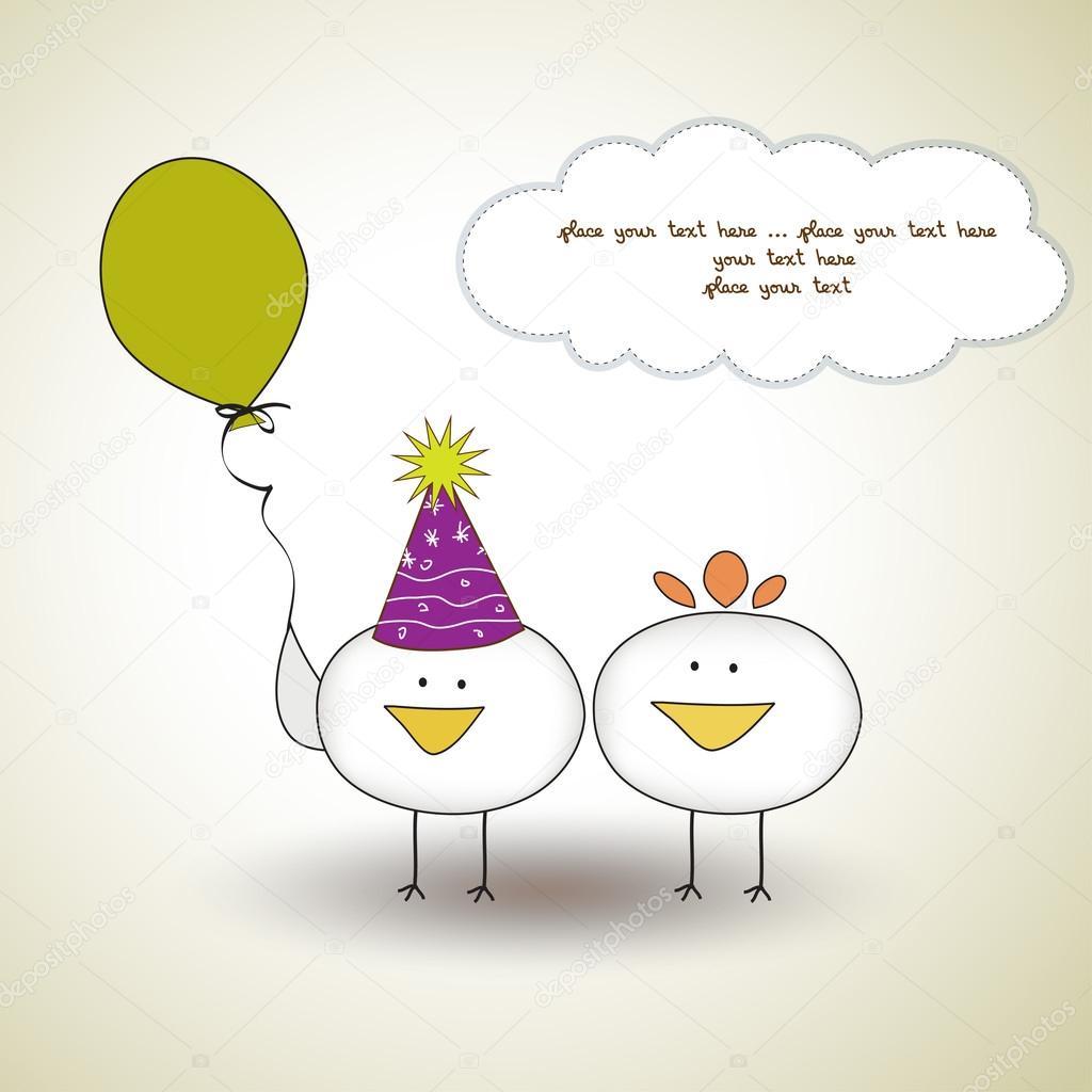 rolig födelsedagshälsning rolig födelsedag part gratulationskort — Stock Vektor  rolig födelsedagshälsning