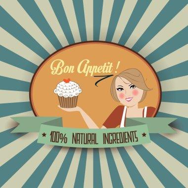 Retro bon appetit message