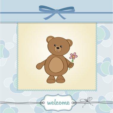 Card with teddy bear
