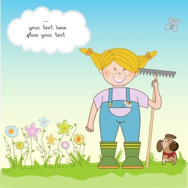 Gardener who cares for flowers