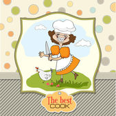 Cook, který provozuje kuře