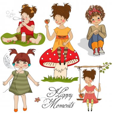 Happy moments items collection