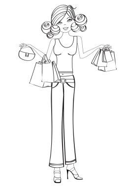 Girls at shopping
