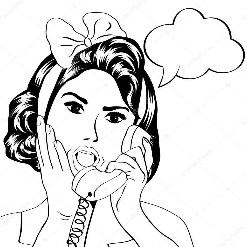 Imágenes Señora Hablando Por Telefono Para Colorear Mujer
