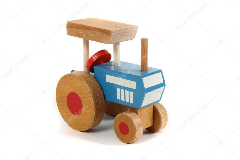 jouet en bois tracteur ancien photographie jonnysek 20039679. Black Bedroom Furniture Sets. Home Design Ideas
