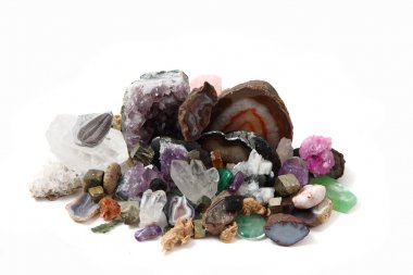 collection of gems and minerals