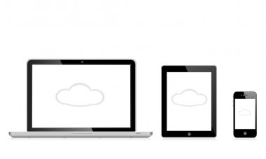 vector illustration modern  laptop, phone, tablet