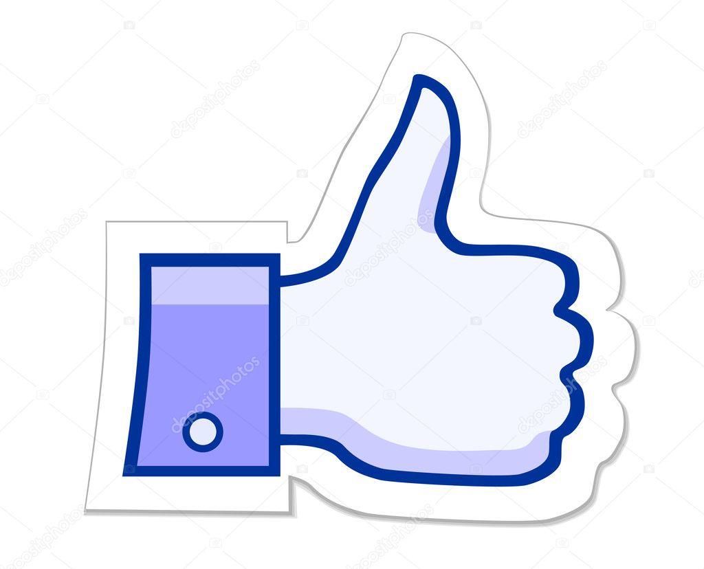 facebook like it button stock vector leonardo255 32378213 rh depositphotos com fb like button vector facebook like button vector free