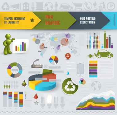 Colorful Infographic Elements. Vector illustration