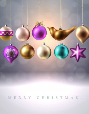 Christmas background with Christmas decoration