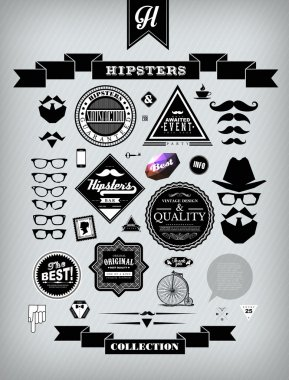 Hipster style collection of elements