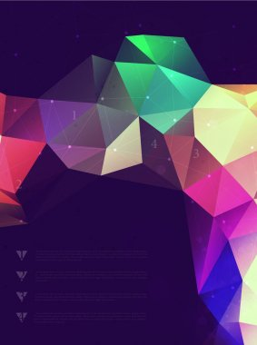 Abstract polygonal triangles poster