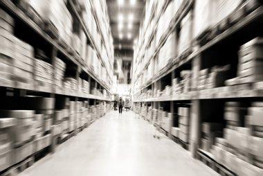 Warehouse shelves stock vector