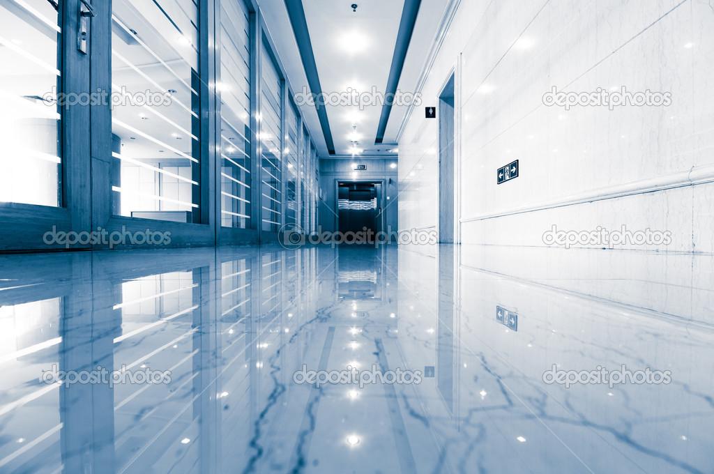 office corridor door glass. Office Corridor Door Glass \u2014 Stock Photo E