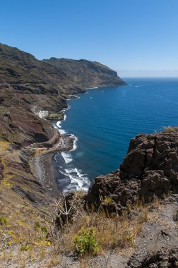 Panorama of the beach Las Teresitas, Tenerife