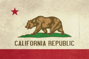Grunge California State flag