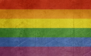 Grunge gay Pride flag
