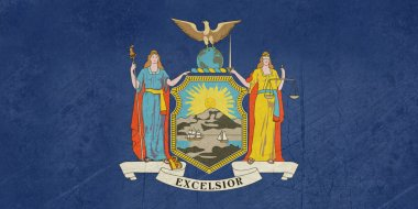 Grunge New York state flag