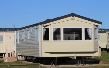 Mobile home on caravan park