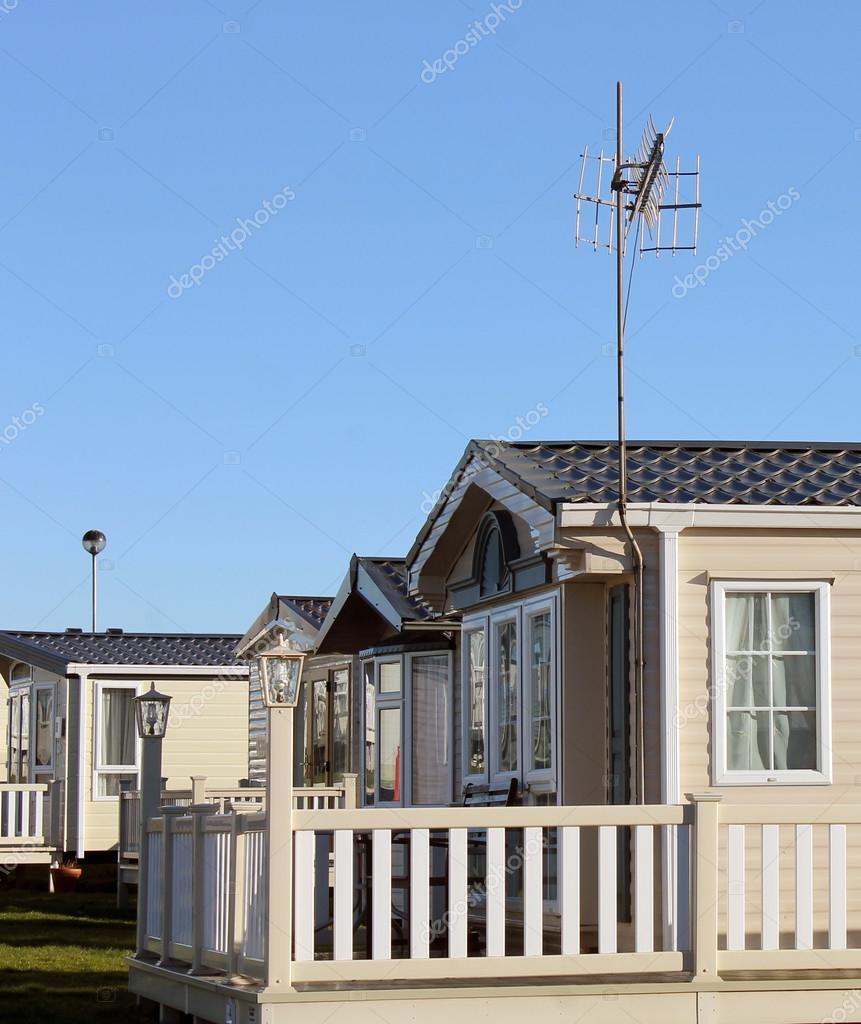 Side View Of Modern Caravan Homes On Trailer Park Summer Scene Photo By Speedfighter17