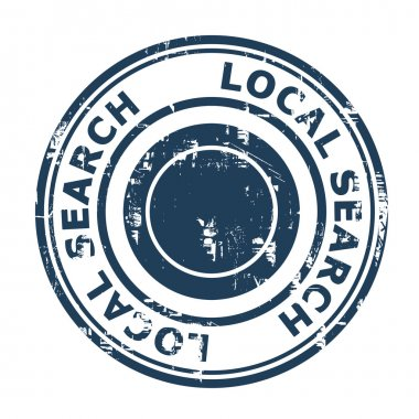 Local search SEO concept stamp