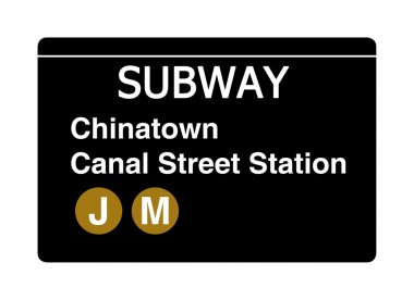 Chinatown Canal Street subway sign