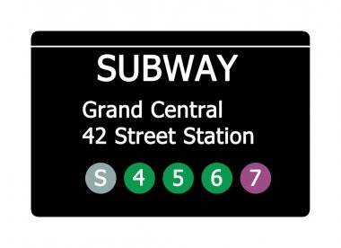 Grand Central Station subway sign