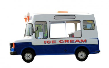 Ice cream van isolated