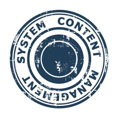Content Management System concept stamp