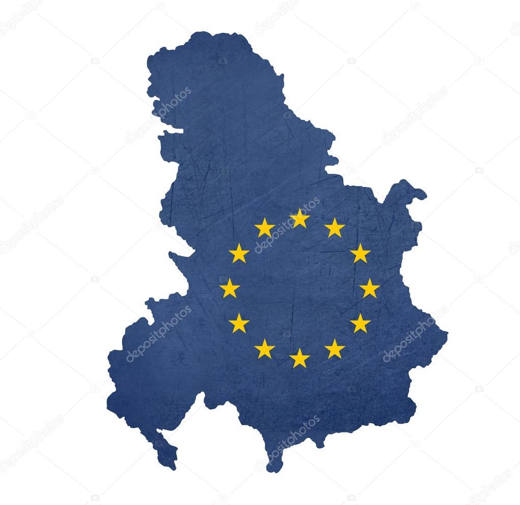 European Flag Map Of Serbia And Montenegro Stock Photo - Montenegro map download