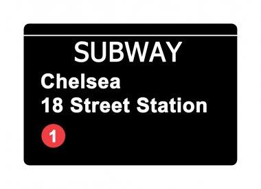 Chelsea 18 Street Station subway sign