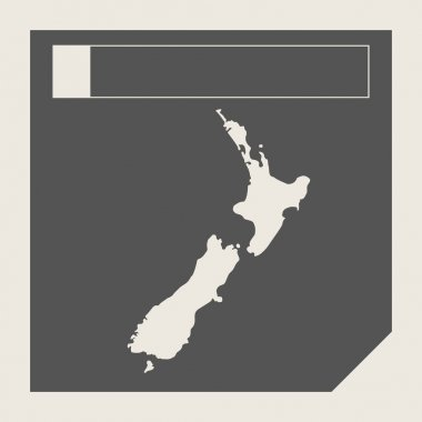 New Zealand map button