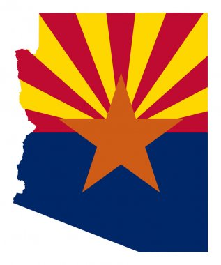 State of Arizona flag map