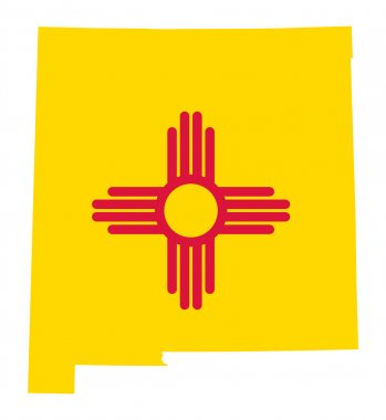 State of New Mexico flag map